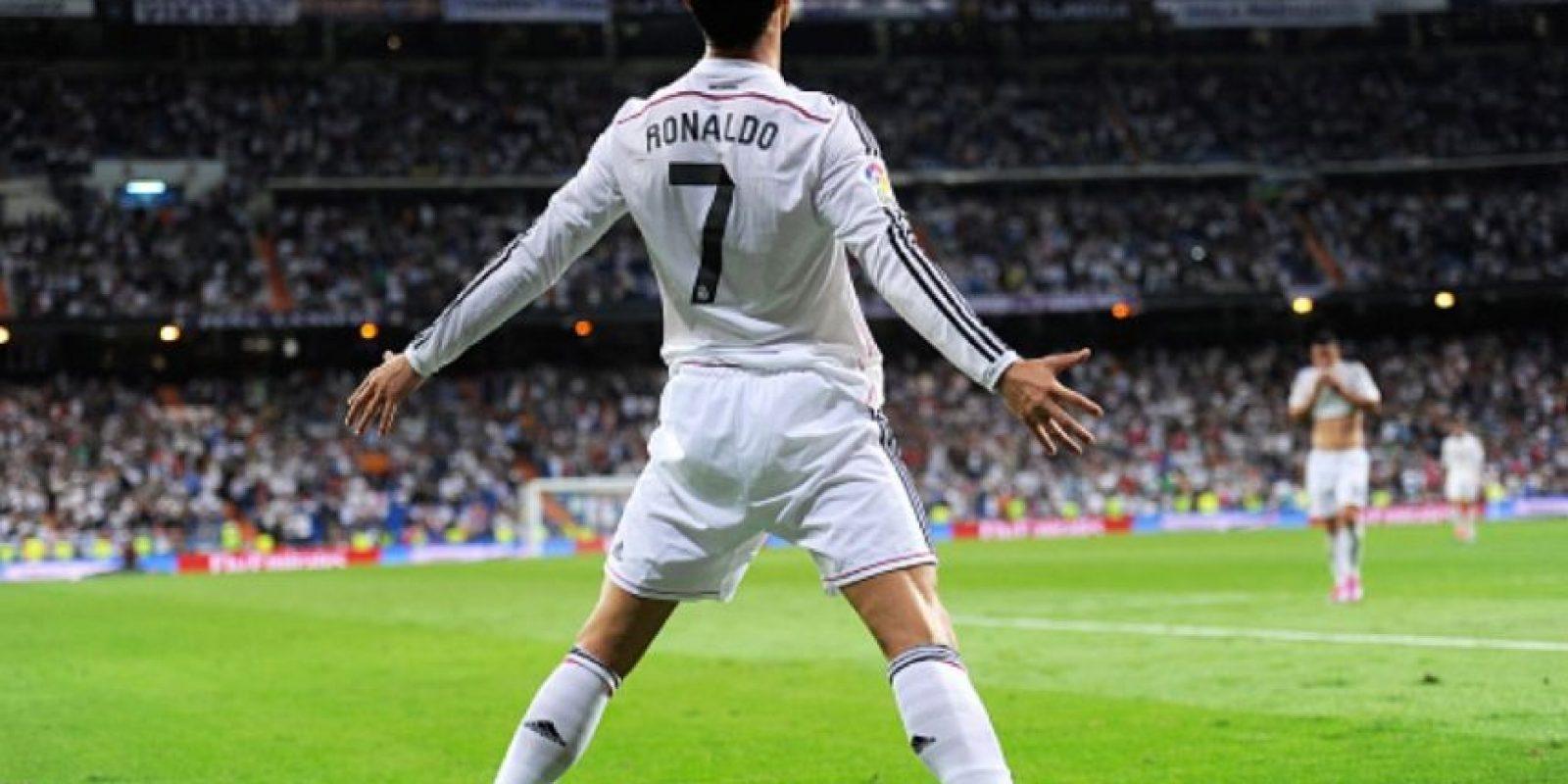 El festejo de Cristiano Ronaldo en la vida real. Foto:Getty Images
