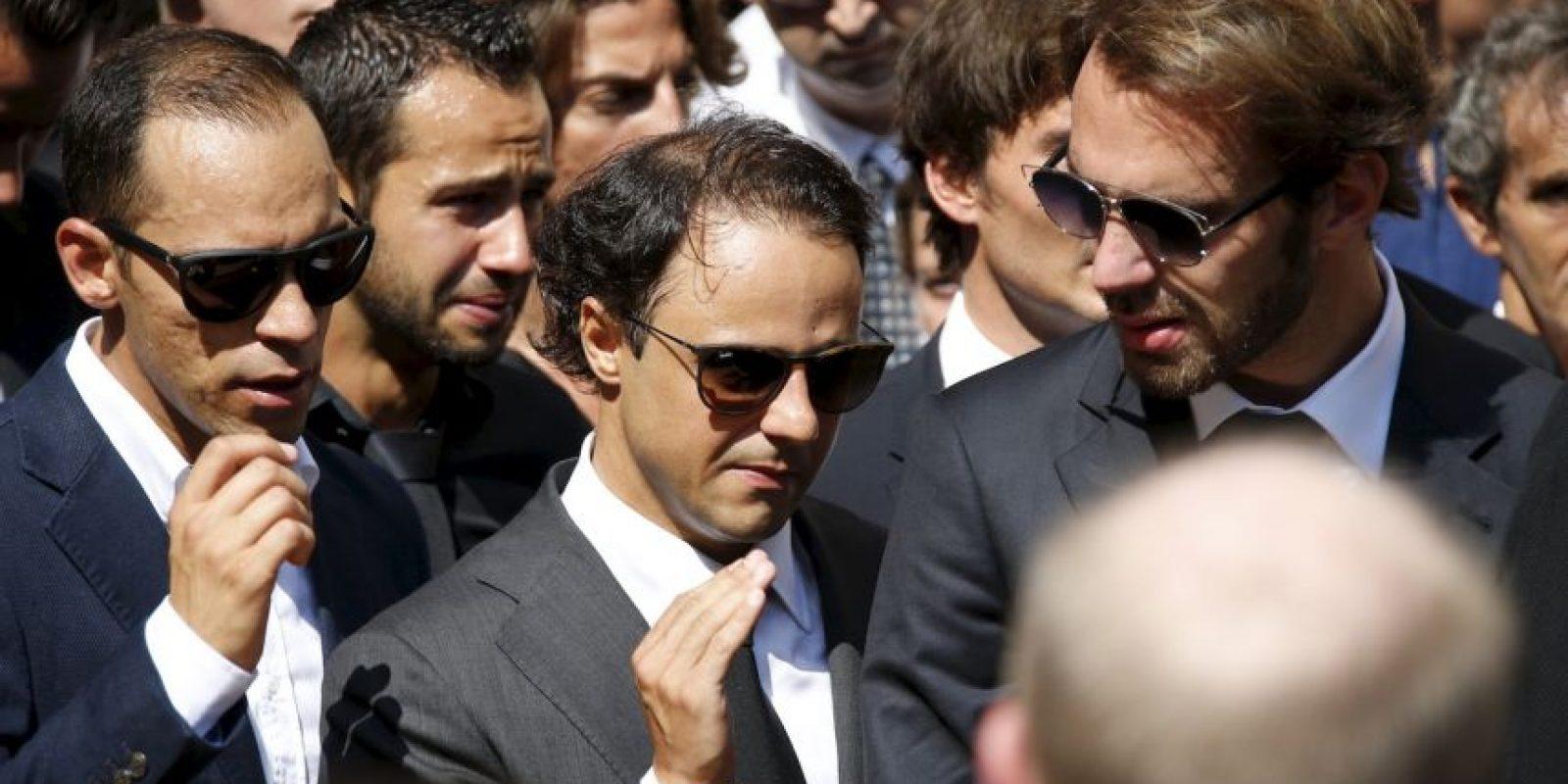 Pastor Maldonado (izquierda), Felipe Massa (centro) y Jean Eric Vergne (derecha). Foto:AFP
