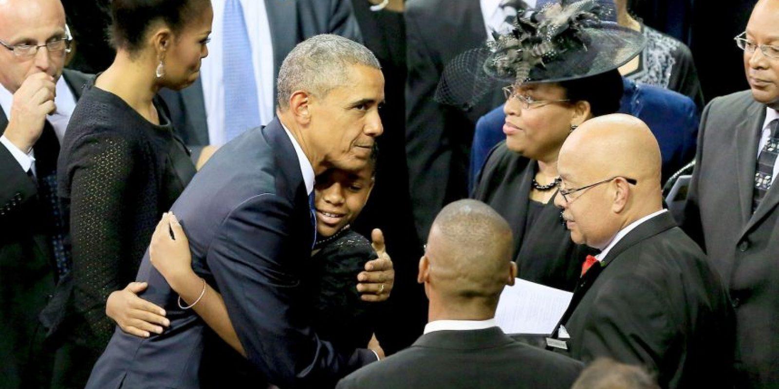 El mostró sus habilidades en una misa en nombre de las nueve víctimas de masacre en Carolina del Sur. Foto:Getty Images
