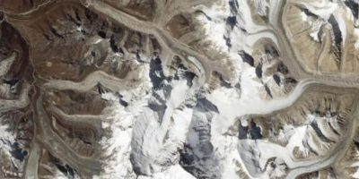 Los picos del Monte Everest, desde el EO-1 Foto:Vía nasa.gov