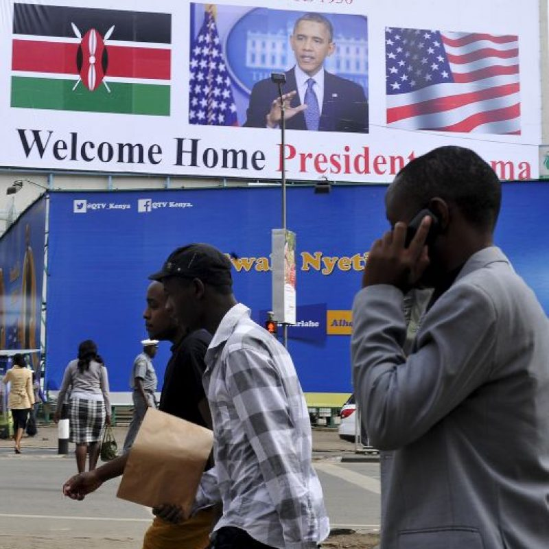 Hay mensajes de bienvenida en todo el país Foto:AFP