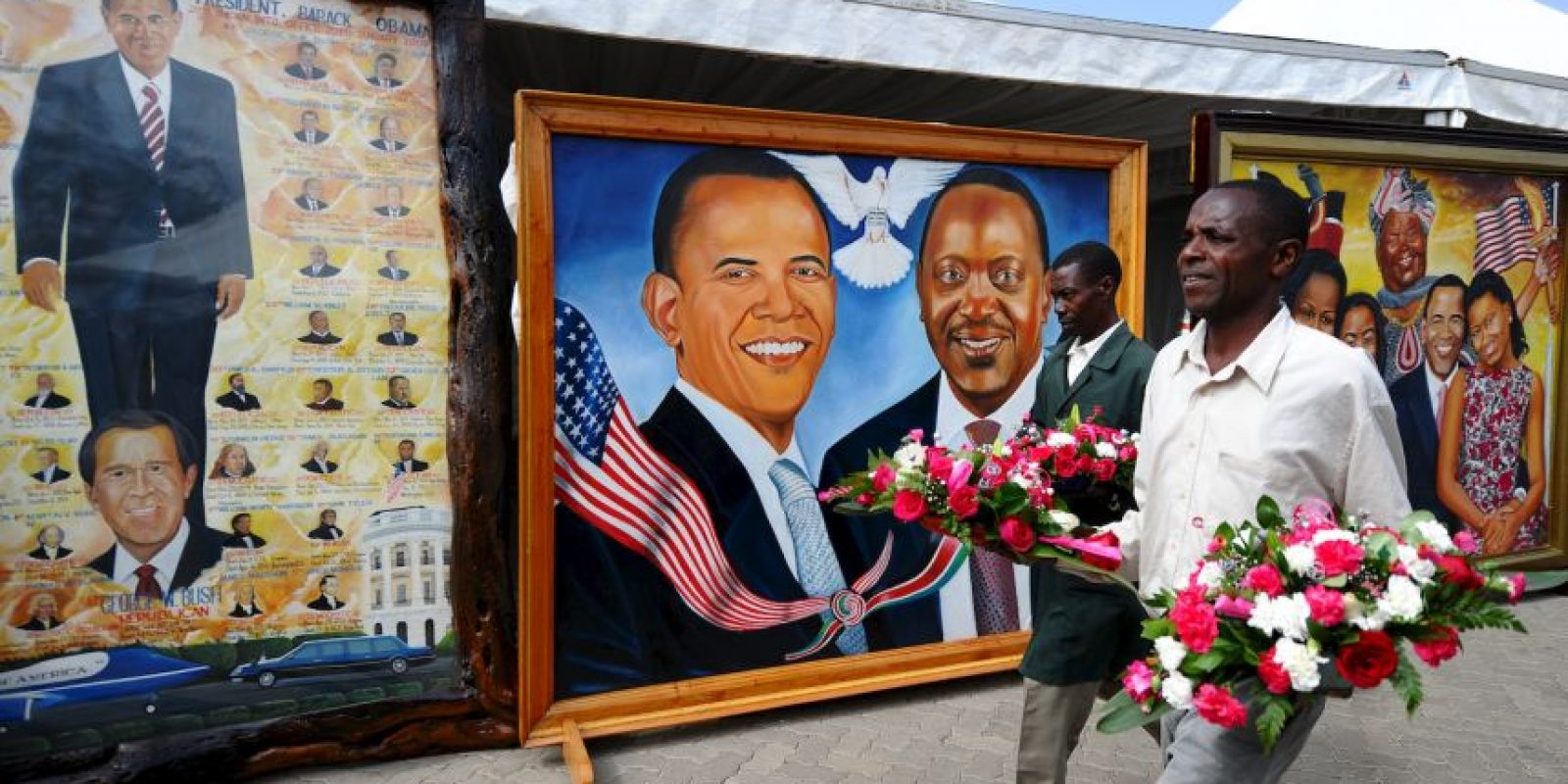 Algunas fueron con el presidente keniano Foto:AFP