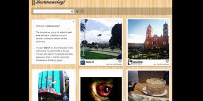 La herramienta también ofrece un mapa de ubicación de las fotografías Foto:instamazing.net/