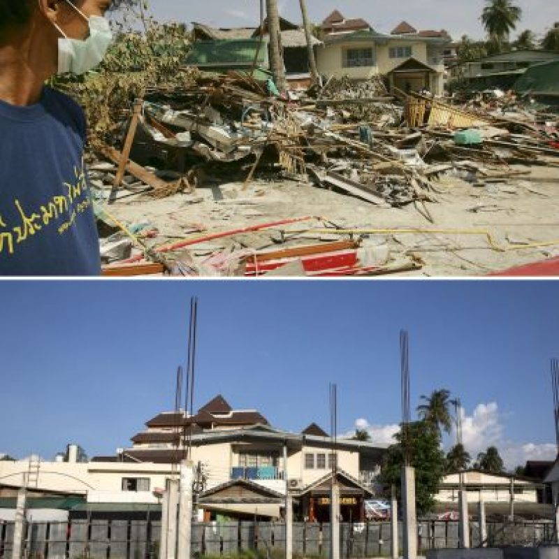 El 26 de diciembre de 2004, un terremoto magnitud 9.1 originó un tsunami en el Océano Índico, que afecto las costas de Indonesia, Tailandia, India, Sri Lanka y otros países. Foto:Getty Images