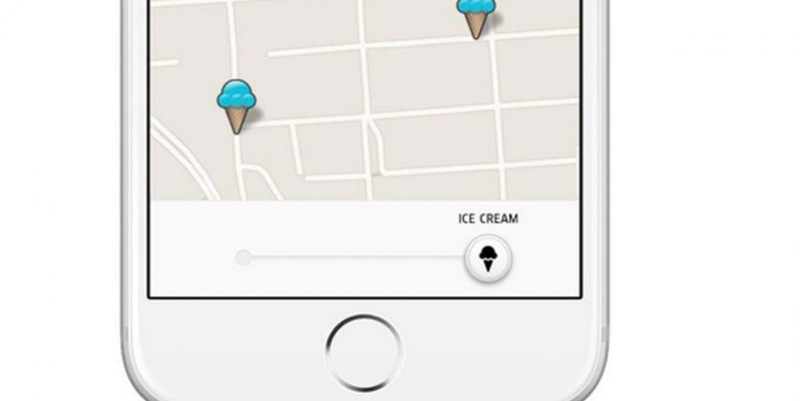 Así es como pueden ordenar un helado con esta aplicación de taxis Foto:Uber