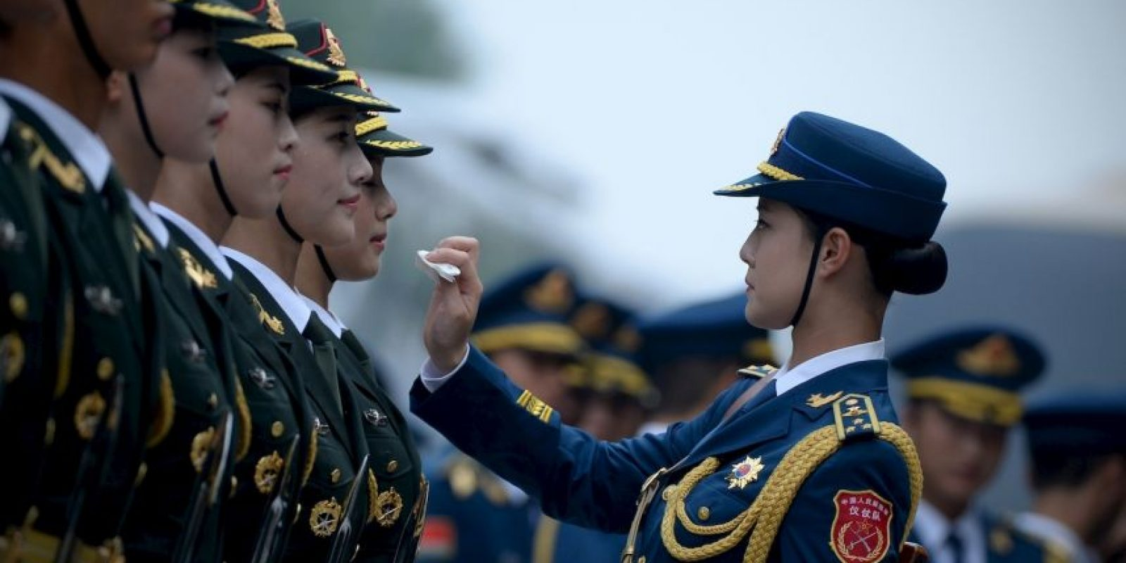 Guardias de honor chinas. Foto: AFP