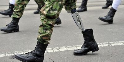 Parada de la independencia en Colombia. Foto:AFP