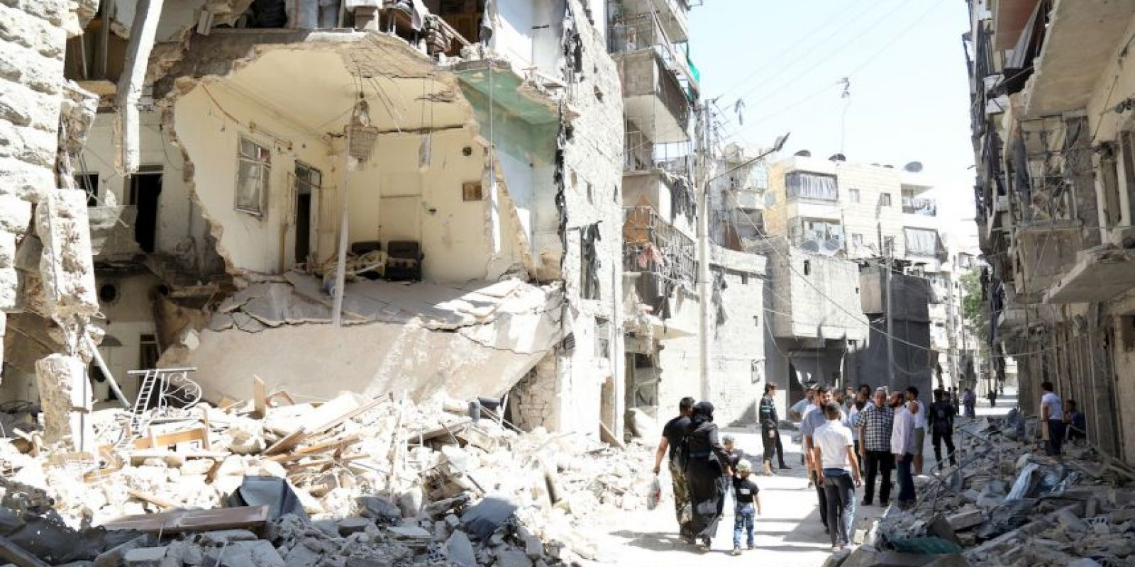 Ruinas producto del conflicto bélico en Siria. Foto:AFP