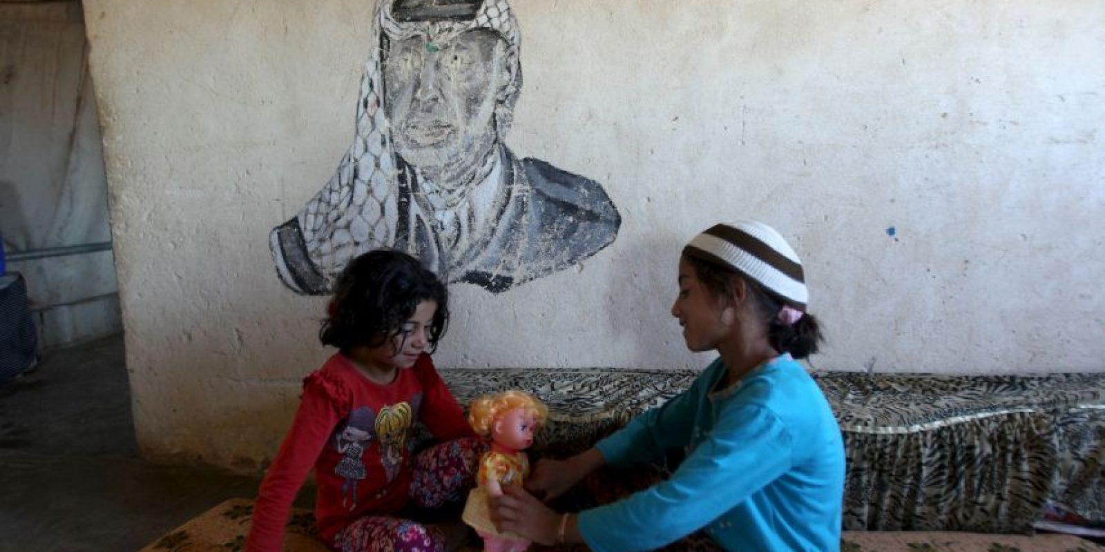 Niñas palestinas jugando en Israel. Foto:AFP