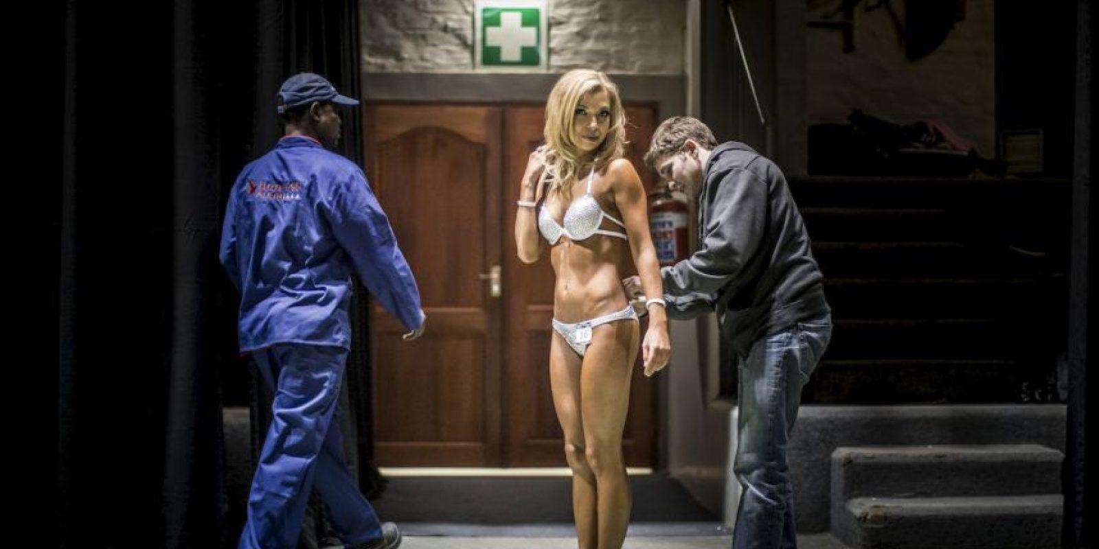 Concurso de fitness en Sudáfrica. Foto:AFP