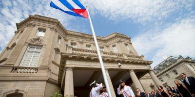 Cuba abre su embajada en Washington, hecho que constituyó del restablecimiento oficial de las relaciones diplomáticas entre ambos países. Foto:AFP
