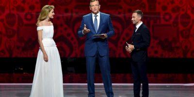 La modelo fue la maestra de ceremonias el evento, al lado del presentador de televisión Dimitry Shepelev. Foto:Getty Images