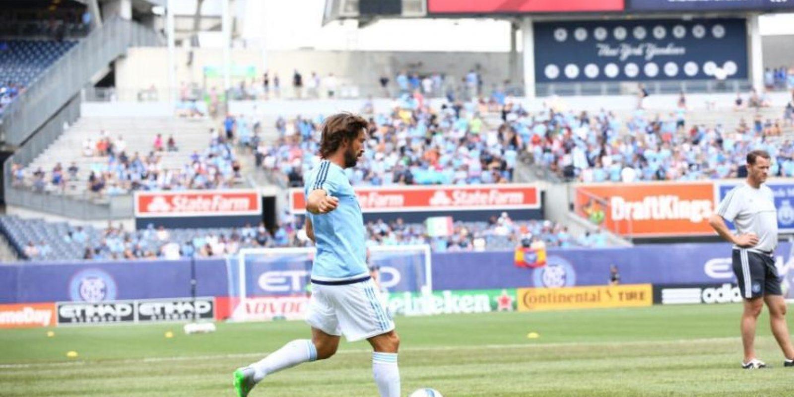 El partido terminó 5-3 a favor del equipo de Pirlo. Foto:Vía facebook.com/newyorkcityfc