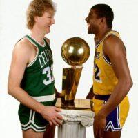 Larry Bird vs. Magic Johnson Foto:Getty Images