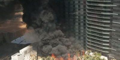 FOTOS: En llamas Hotel Cosmopolitan de Las Vegas
