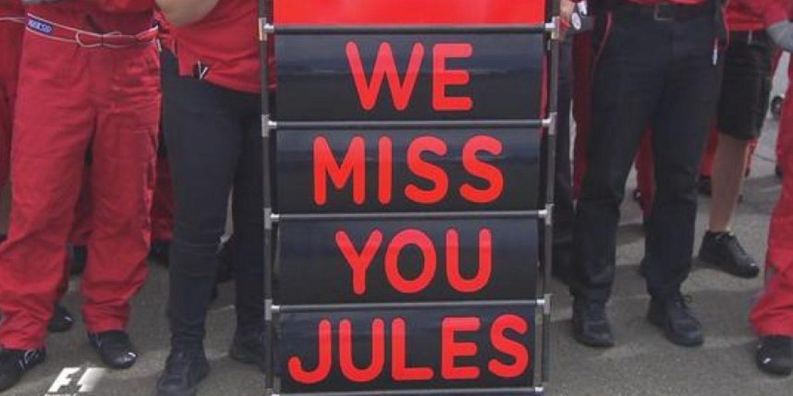 Las muestras de cariño a Jules Bianchi no terminan. Foto:Vía twitter.com/F1