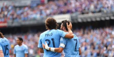 Andrea Pirlo por fin debutó con su nuevo club. Foto:Vía facebook.com/newyorkcityfc