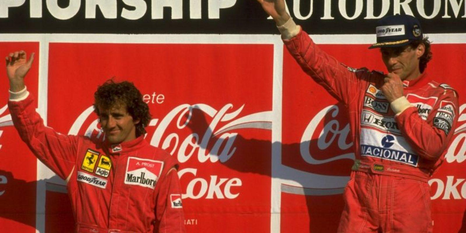 Ayrton Senna vs. Alain Prost Foto:Getty Images