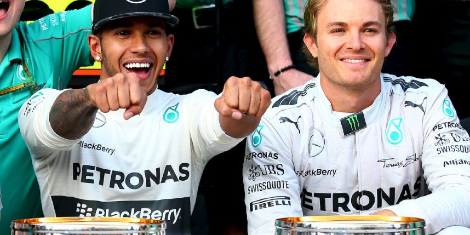 Lewis Hamilton vs. Nico Rosberg Foto:Getty Images