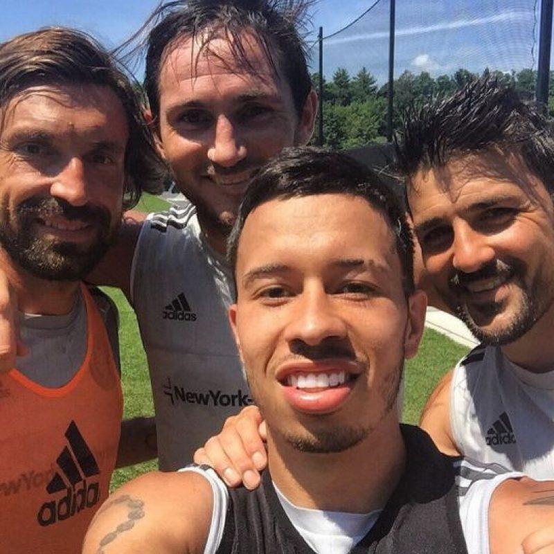 En New York City FC, el italiano comparte vestidor con el inglés Frank Lampard y el español David Villa. Foto:Vía instagram.com/franklampard