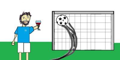 """Un tiro libre bien ejecutado, una copa de vino y su legendario """"21"""". Foto:reddit.com"""