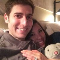 Eduardo Saverin y Elaine Andriejanssen. Foto: facebook.com/saverin