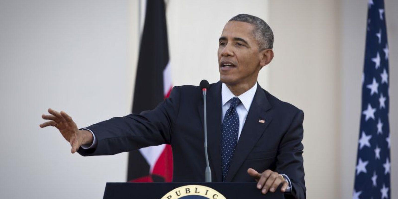El presidente Barack Obama bromeó sobre sus orígenes durante su visita de Estado a Kenia. Foto:AP