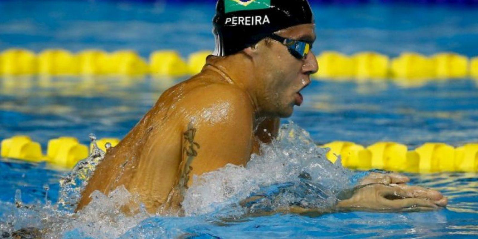El nadador brasieño gano cinco metales en Toronto 2015 Foto:Getty Images