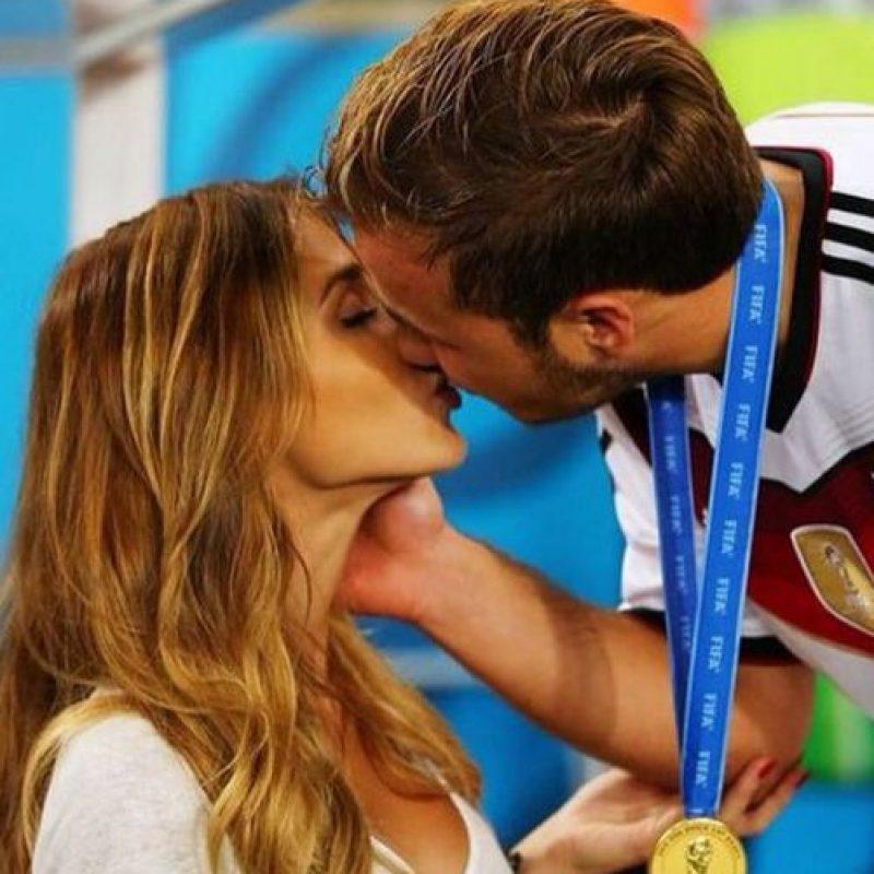 Ann y Mario durante la final del Mundial 2014. Foto:instagram.com/annkathrin_vida