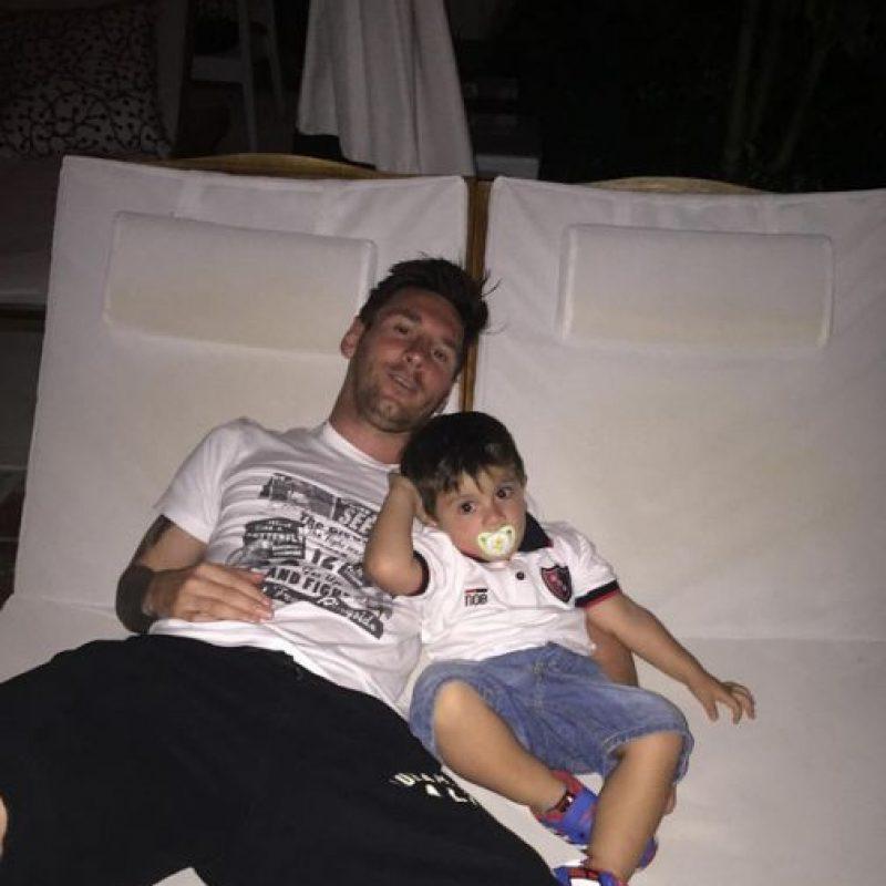 Fue hasta principios del mes de julio, tras perder la final del torneo sudamericano ante Chile, que Messi por fin tuvo vacaciones. Foto:Vía instagram.com/leomessi