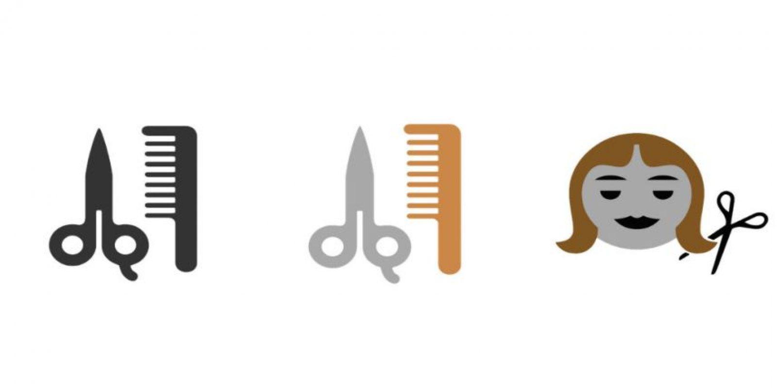 Y se añadieron tres dibujos que aluden a cortes de cabello o salon de belleza Foto:Emojipedia