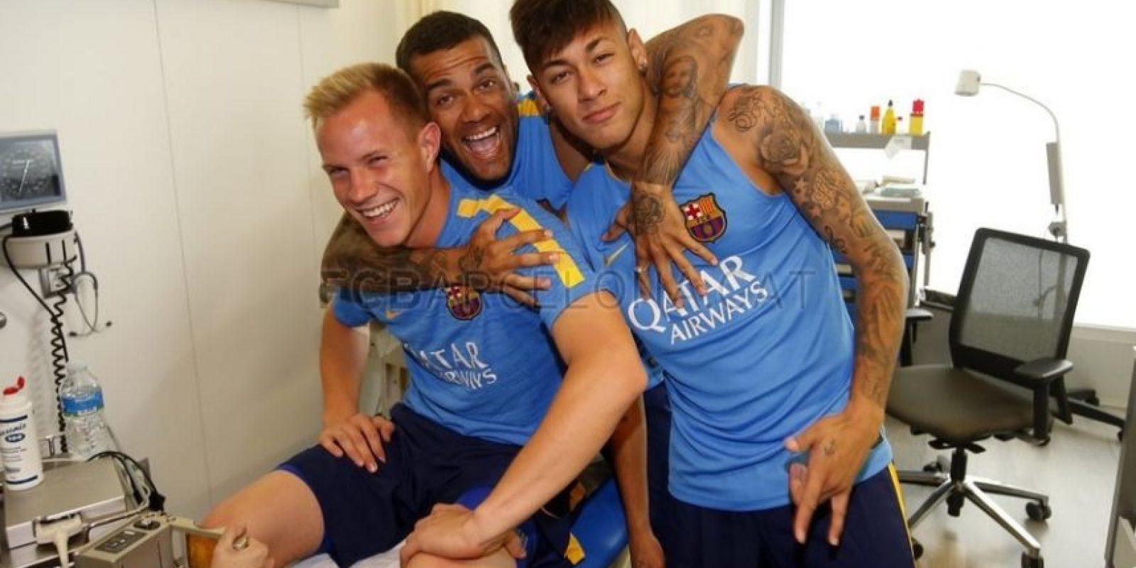 También Neymar, Ter Stegen y Neymar. Foto:fcbarcelona.com