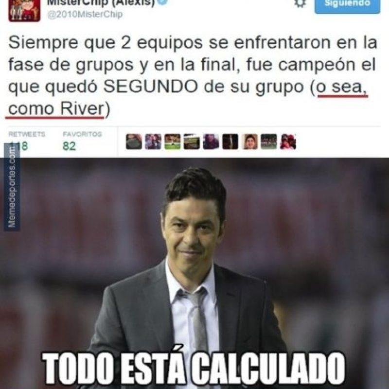 La estadística que favorece a River Plate. Foto:memedeportes.com