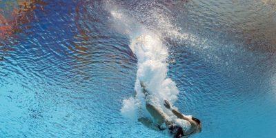 Nadadora norcoreana Kim Kuk Hyang durante el Campeonato Mundial FINA 2015. Foto:AFP