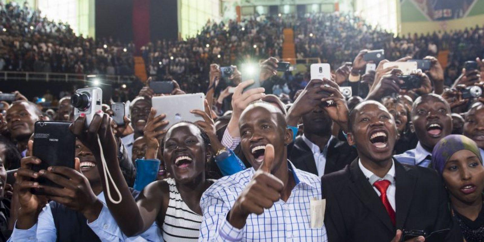 Barack Obama en Kenia. Foto:AFP