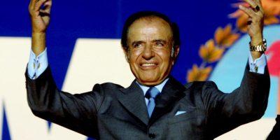 Fue presidente de Argentina de 1989 a 1999 Foto:Getty Images