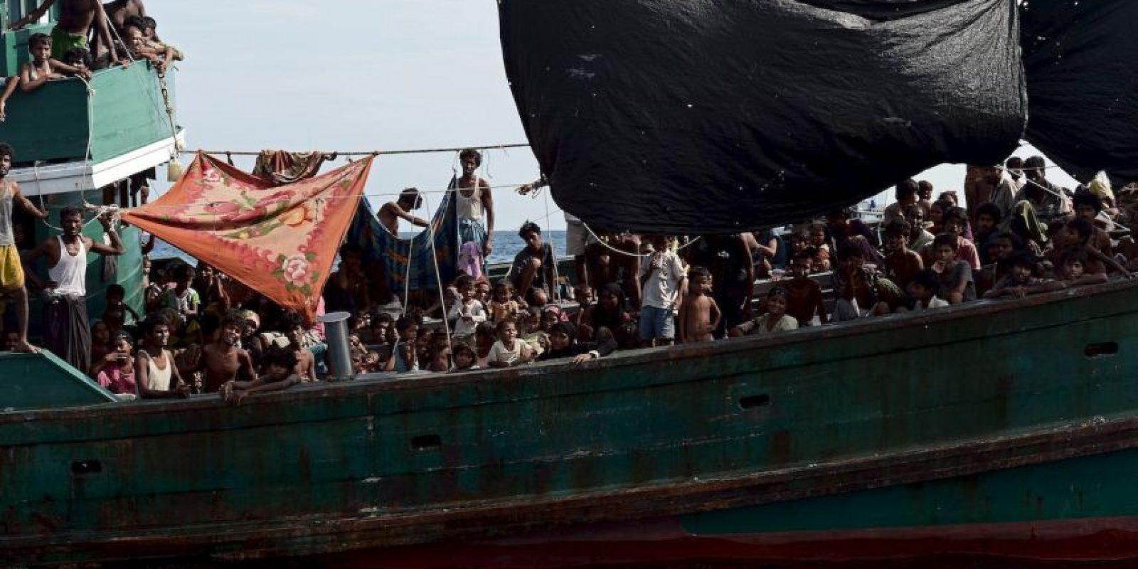 Inmigrantes de nacionalidad dominicana y cubana son los más que intentan entrar a la isla por dicho canal. La zona es peligrosa por ser un área de tiburones. Foto:AFP