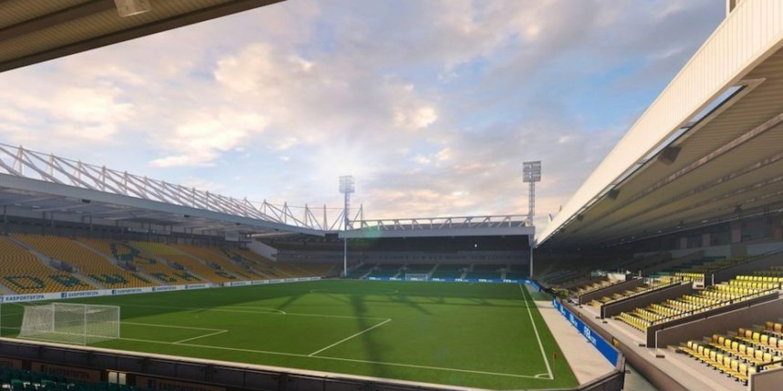Carrow Road (Norwich City, Barclays Premier League). Foto: EA Sports