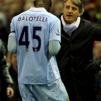 7. Roberto Mancini vs. Mario Balotelli. Foto: Getty Images