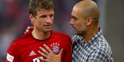 2. Pep Guardiola vs. Thomas Muller. Foto: Getty Images