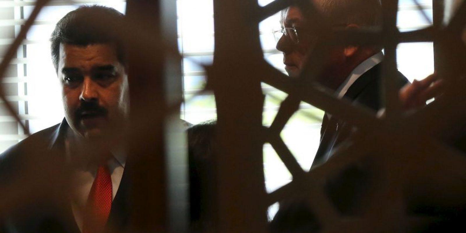 """""""Hoy tuvimos un suceso allá en San Félix (Bolívar) lamentable. Me informa el gobernador que fue un acto planificado"""", dijo en un acto público. Foto:Getty Images"""
