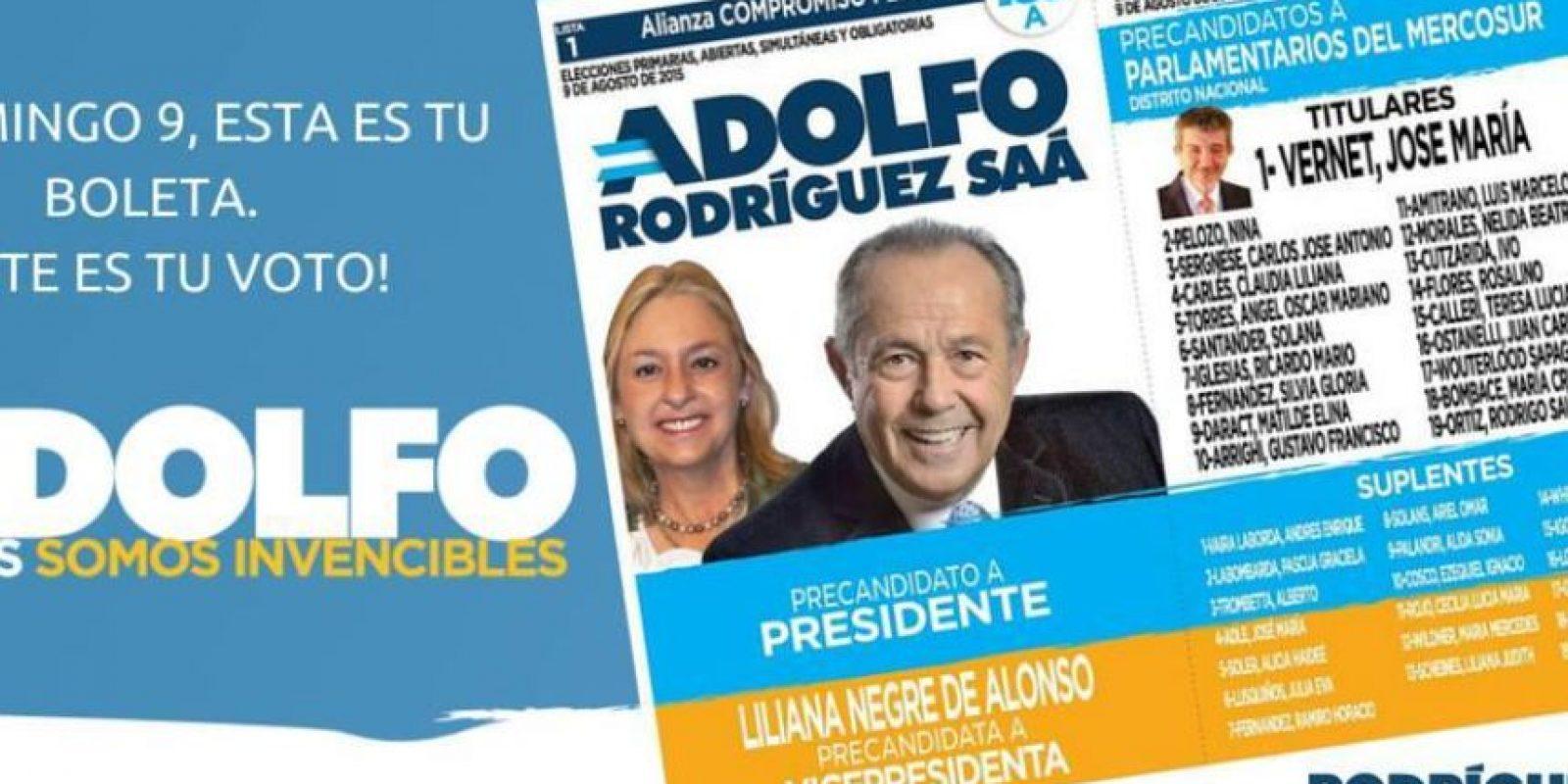 Adolfo Rodríguez Saá Foto:Facebook.com/AdolfoRS2015