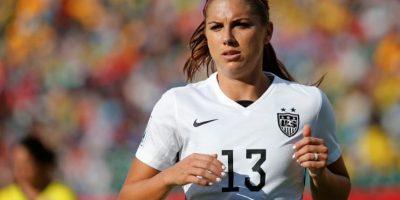 La estadounidense Alex Morgan juega en el Portland Thorns FC. Foto:Getty Images