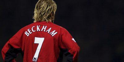 """Antes de Cristiano Ronaldo, David Beckham era el ídolo de la afición de los """"Red Devils"""". Foto:Getty Images"""