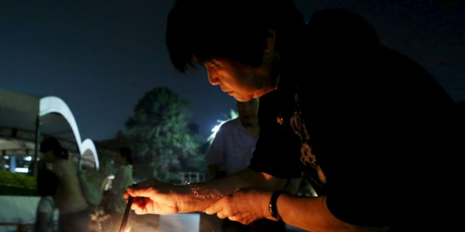 Durante las primeras horas del día se inició una vigila en Hiroshima Foto:Getty Images