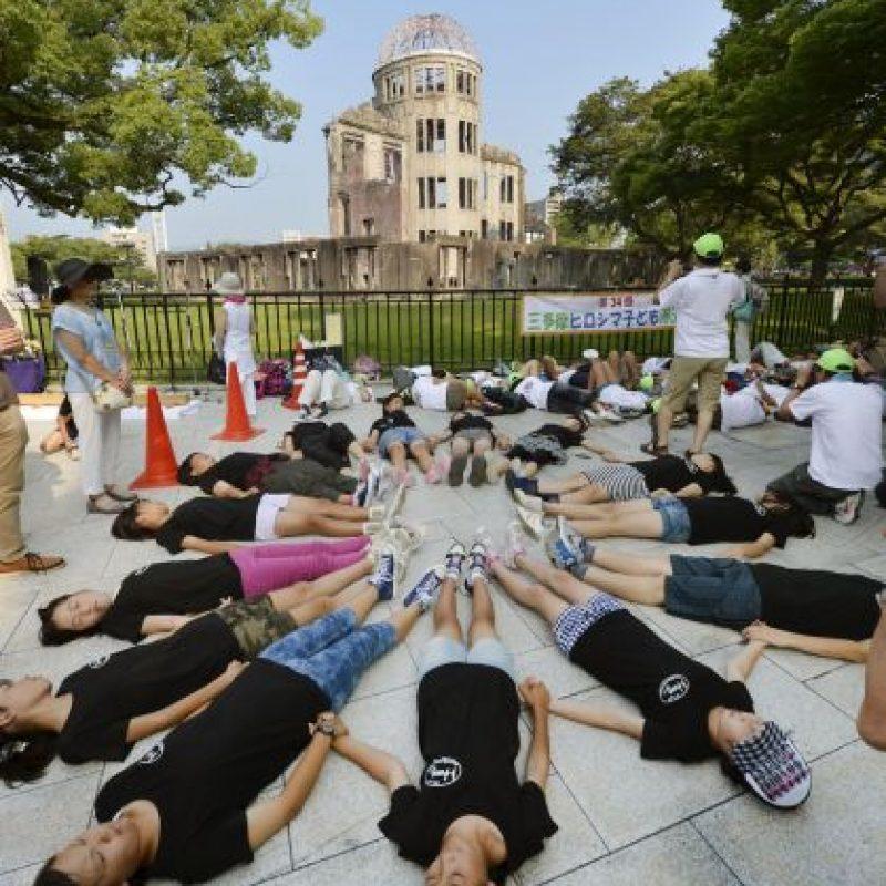 Japón: Manifestantes protestaron en diversos puntos de Hiroshima Foto:AP