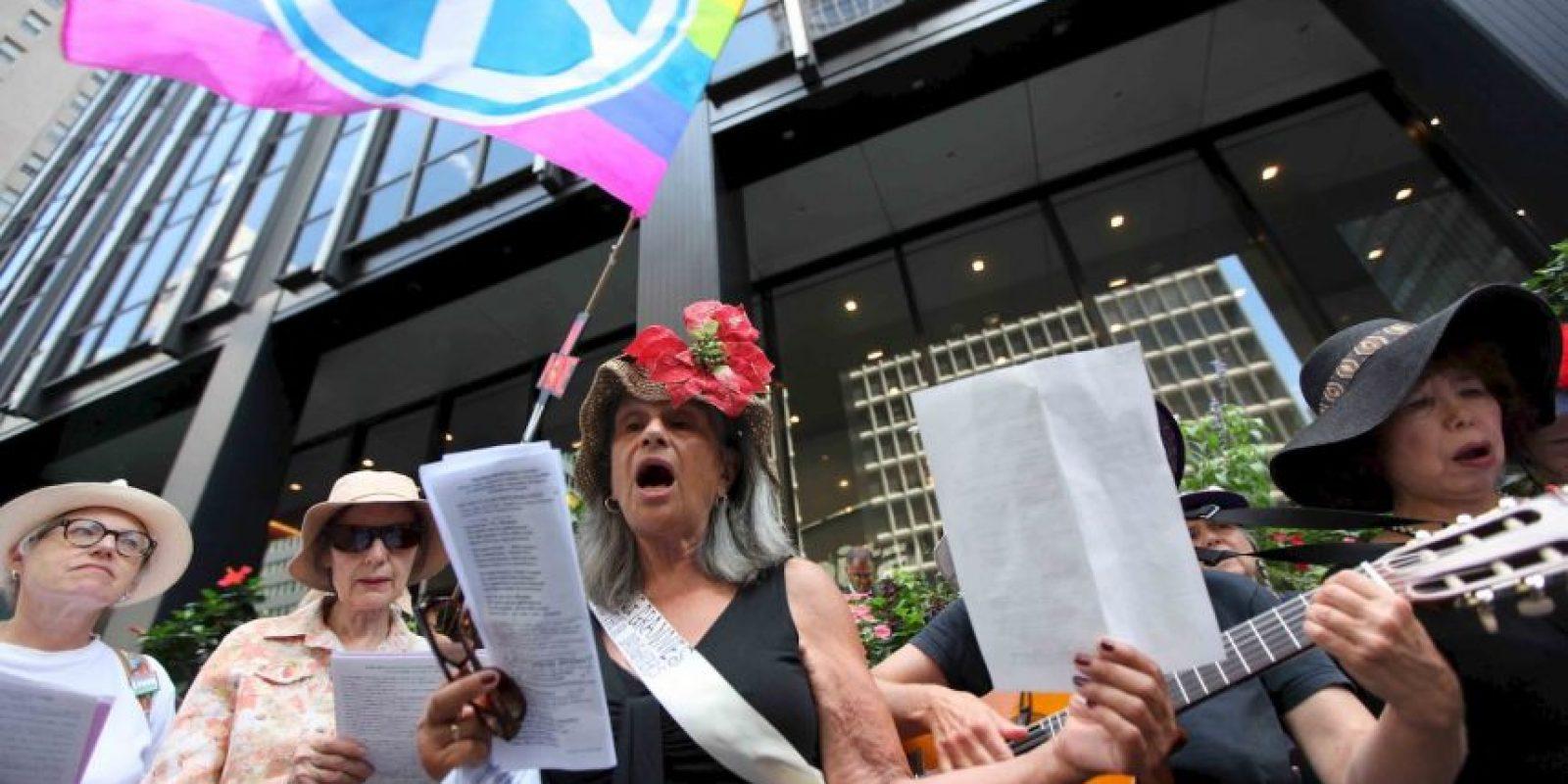Estados Unidos: Manifestantes se reunieron en Nueva York en protesta por este atentado Foto:AP
