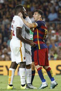 """En duelo amistoso este 5 de agosto, la """"Pulga"""" reaccionó violentamente ante un reclamo de Mapou. Foto:AFP"""