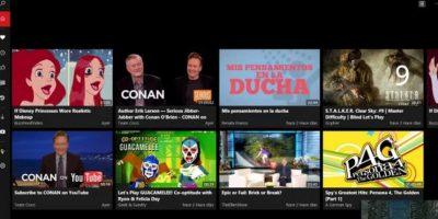 En ella básicamente tienen todas las opciones que en la web oficial de la red de videos Foto:Microsoft