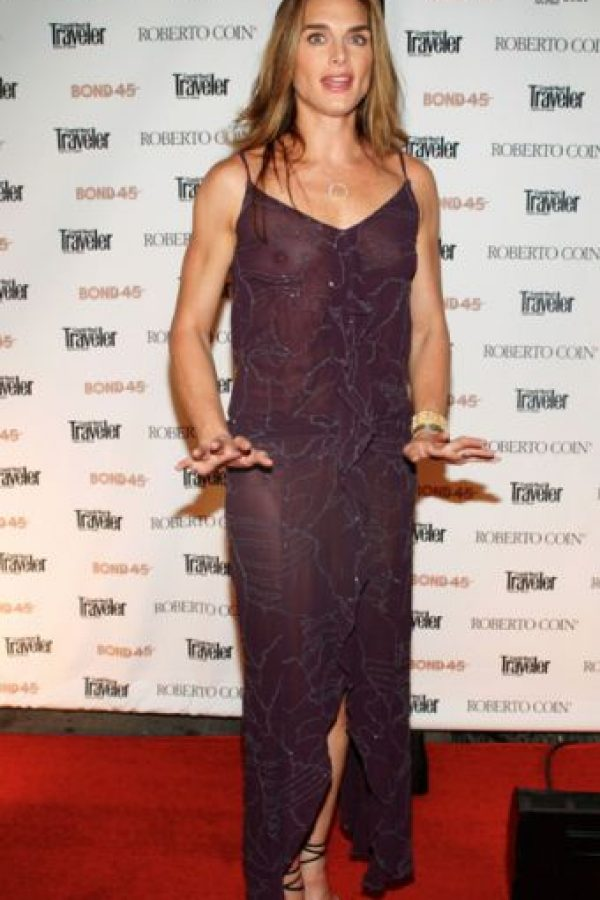 Brooke Shields, clásica. Foto:vía Getty Images